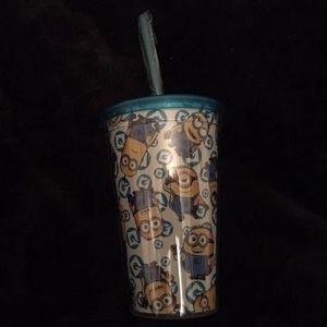 Minion Tumbler W/straw- Glow In The Dark
